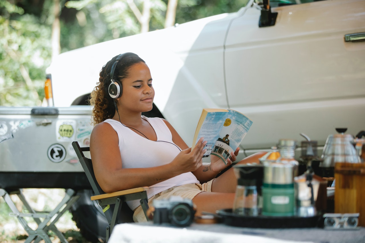 Reading on a road trip